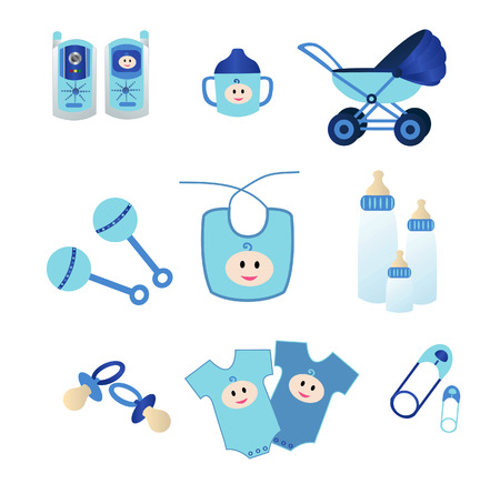 nappy:  icon elements for boys