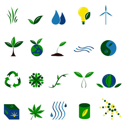 Environmental icons Illustration