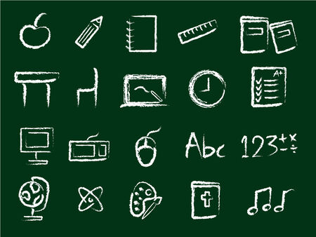 Education icons in chalk style Stock Vector - 3257189