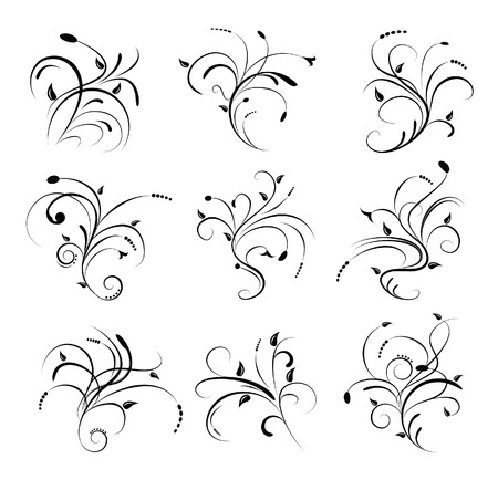 Floral Scrolls Stock Vector - 3536701