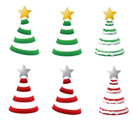 Stylized Christmas Trees Illustration