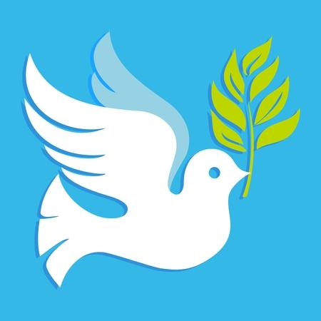 Peace Dove Blue Illustration Vector