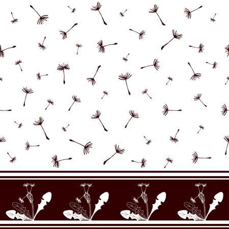 Modèle sans couture avec pissenlits. Conception pour textile, décoration, tissu, papier peint Fond de vecteur