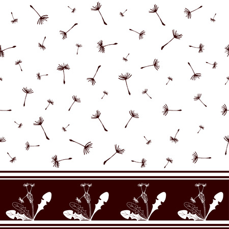 Seamless pattern with dandelions.Design for textile, decor, fabric, wallpaper Vector background