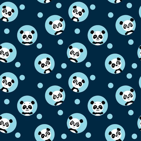 Seamless pattern,  panda.