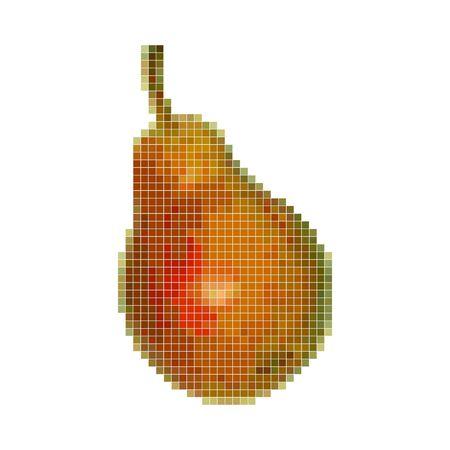 Pixel graphic pear. Fruit. 8 bit Vector illustration 写真素材 - 147417478