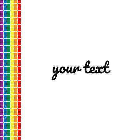 Rainbow pixel design.