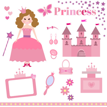 fairly: illustration of princess design elements