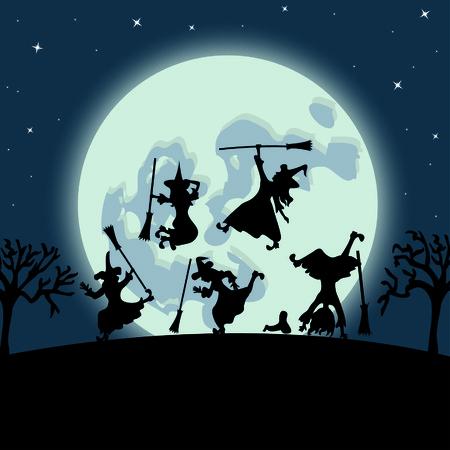 sexy halloween: Halloween witches dance