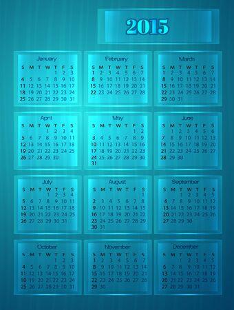abstract calendar 2015 (week starts on Sunday)