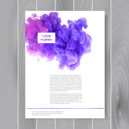 Brochure design template for your company (colorful ink in water) Vector