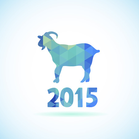 Abstract New Year background with symbol of 2015 year goat Vector