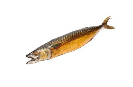 Smoked mackerel on a white background Stock Photo - 8763253