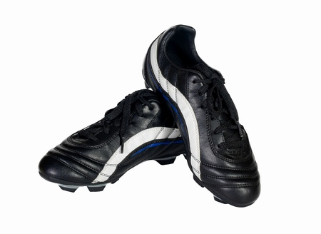 soccer shoes: Soccer shoes on a white background Stock Photo