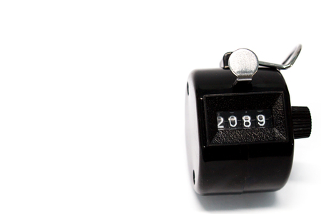 integer: Counter on white background Stock Photo