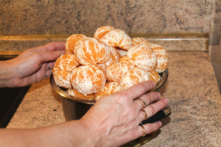 purified: citrus purified Mandarins Stock Photo