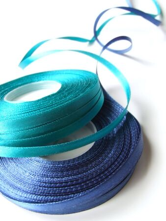 blue and turquoise ribbons Stock Photo