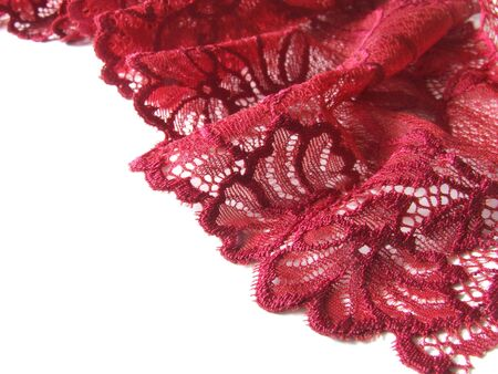 Red lace border