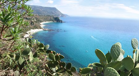 viewpoint: Capo Vaticano, Calabria, Italy - attractive viewpoint in Calabria. Stock Photo