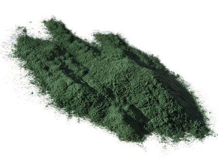 Spirulina powder - algae, nutritional supplement.