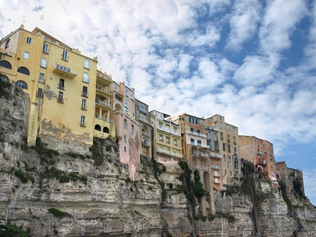 Famous cliff in Tropea, Calabria, Italy. Stock Photo
