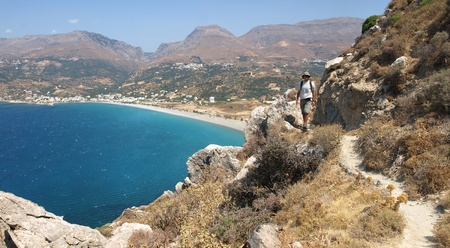 Mountain path near Plakias,southern Crete, Greece Stock Photo