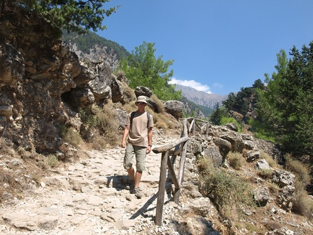 Samaria gorge - the most popular tourist destination in Crete.