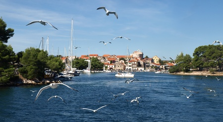 Town of Vrboska - Island of Hvar, Croatia. Stock Photo