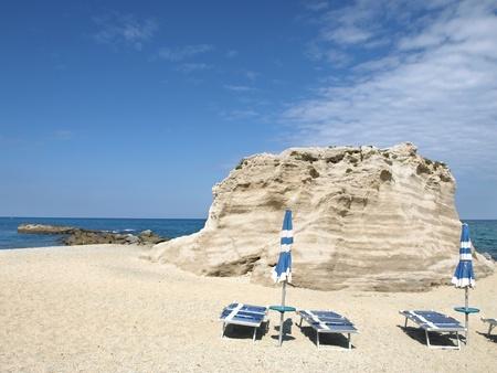 tyrrhenian: Beach in Tropea - Calabria, Italy. Stock Photo