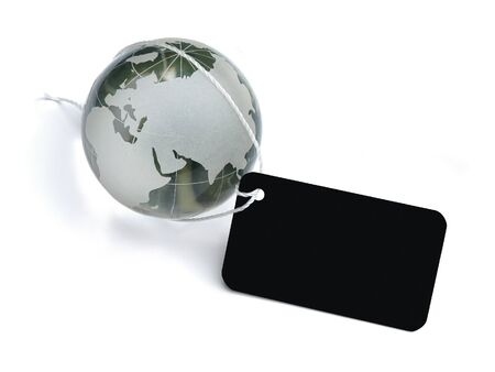 global business label Stock Photo