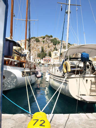 Yialos, the harbour of Symi island, Greece