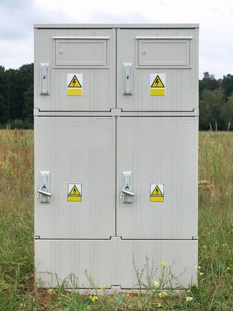 meter box: Energ�a El�ctrica caja del medidor Foto de archivo