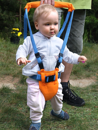 Walking exercises with Toddler Safety Harness photo
