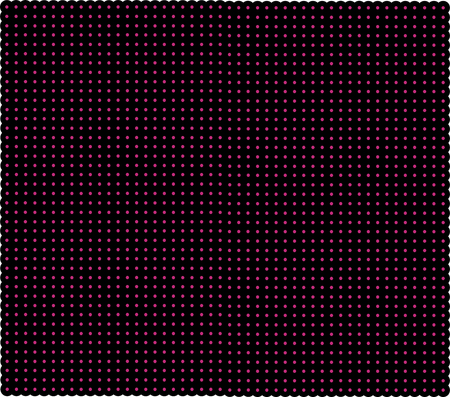 intersects: Dark red grid with shining points. Laser net with glow intersects on red dark background. Seamless pattern with red neon regular lines