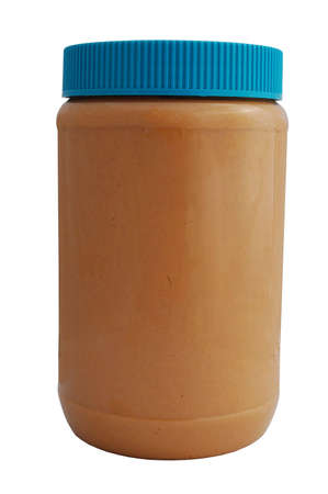 peanut butter jar isolated on white