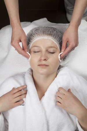The girl receives cosmetic procedures Stock Photo - 9229240