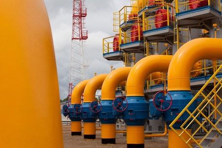 Part of the equipment of modern compressor station Stock Photo - 11078480