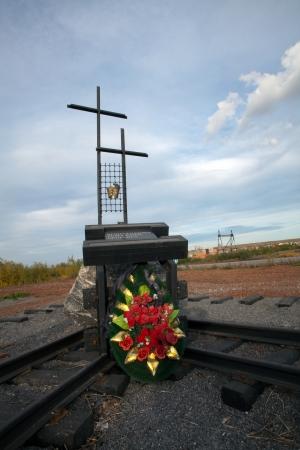 tiran: In de stad Vorkuta in Rusland opende een monument voor de slachtoffers van de repressie van Stalin - de Duitsers, die in Rusland woonde in de jaren dertig en kwamen om in de concentratiekampen van de zogenaamde Labor leger.