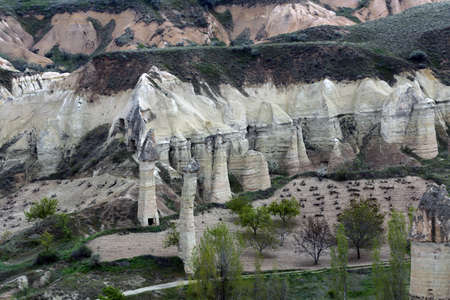 Love valley   — the rock formations, Goreme, Cappadocia, Turkey Standard-Bild