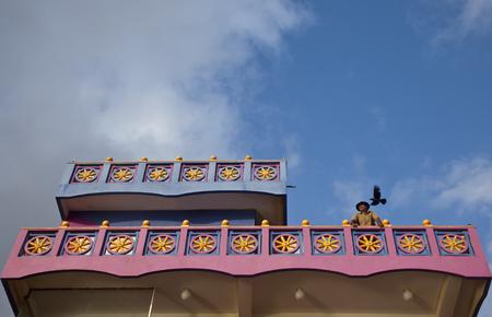 The owner of the small hotel in ethnic style, Hikkaduwa, Shri Lanka