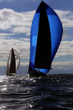 Two yachts sailing in the Baltic sea Editorial