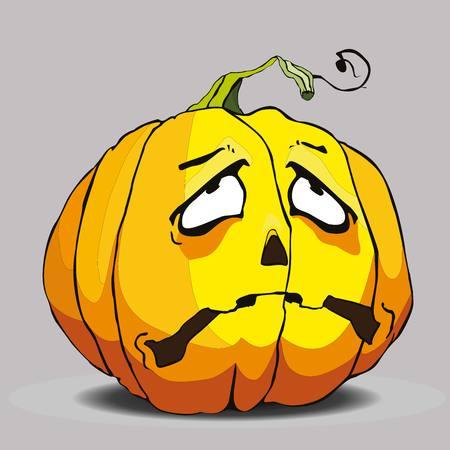 The sad pumpkin for Halloween