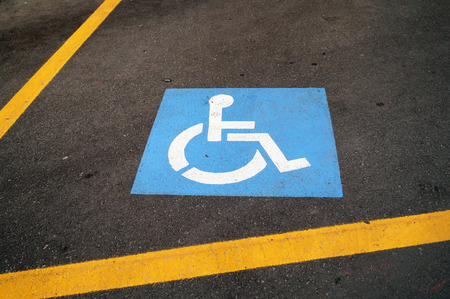 disable: disable parking Stock Photo