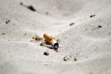 해변에있는 담배