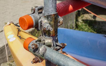 metal scaffolding detail