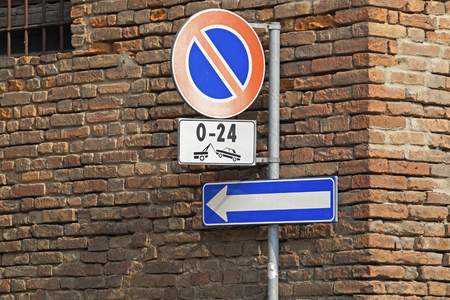 no parking sign: no parking sign