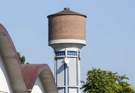 water town: water tower Stock Photo