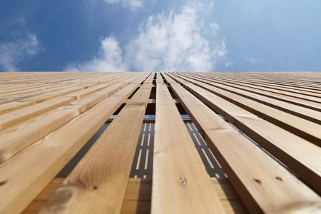 Wooden facade detail