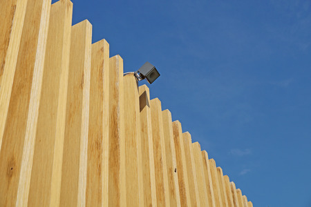 partment: wooden facade modern perspective