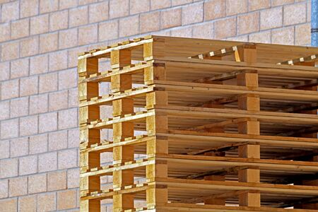 euro pallet: wooden pallet for transporting stacked